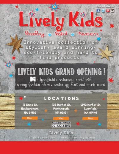 Lively Kids website design-build