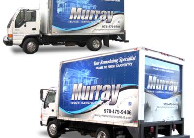 Murry Construction vehicle wrap design