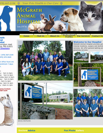 McGrathVet.com website