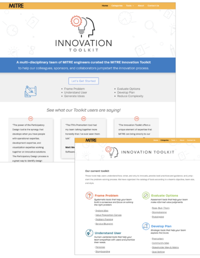 Innovation_Tool_Kit website, logo design